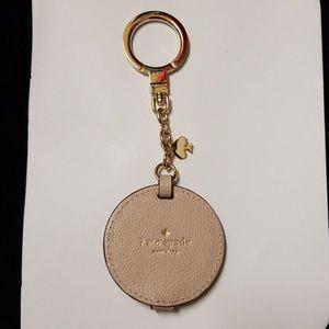 Kate Spade Mirror keychain bag charm NWOT